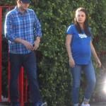 A Pregnant Mila Kunis & Ashton Kutcher Show Their Love For The LA Dodgers